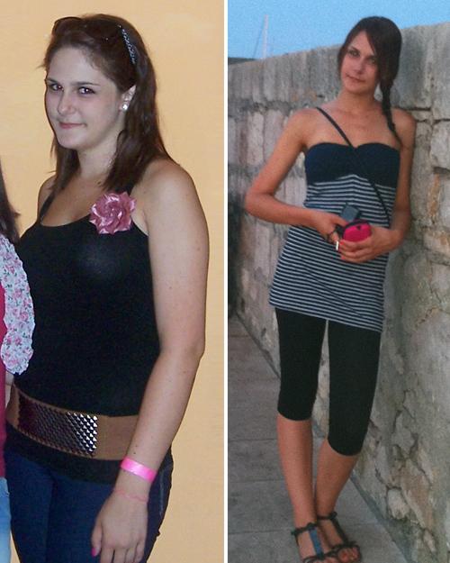 súlycsökkenés 15 kg előtt és után)