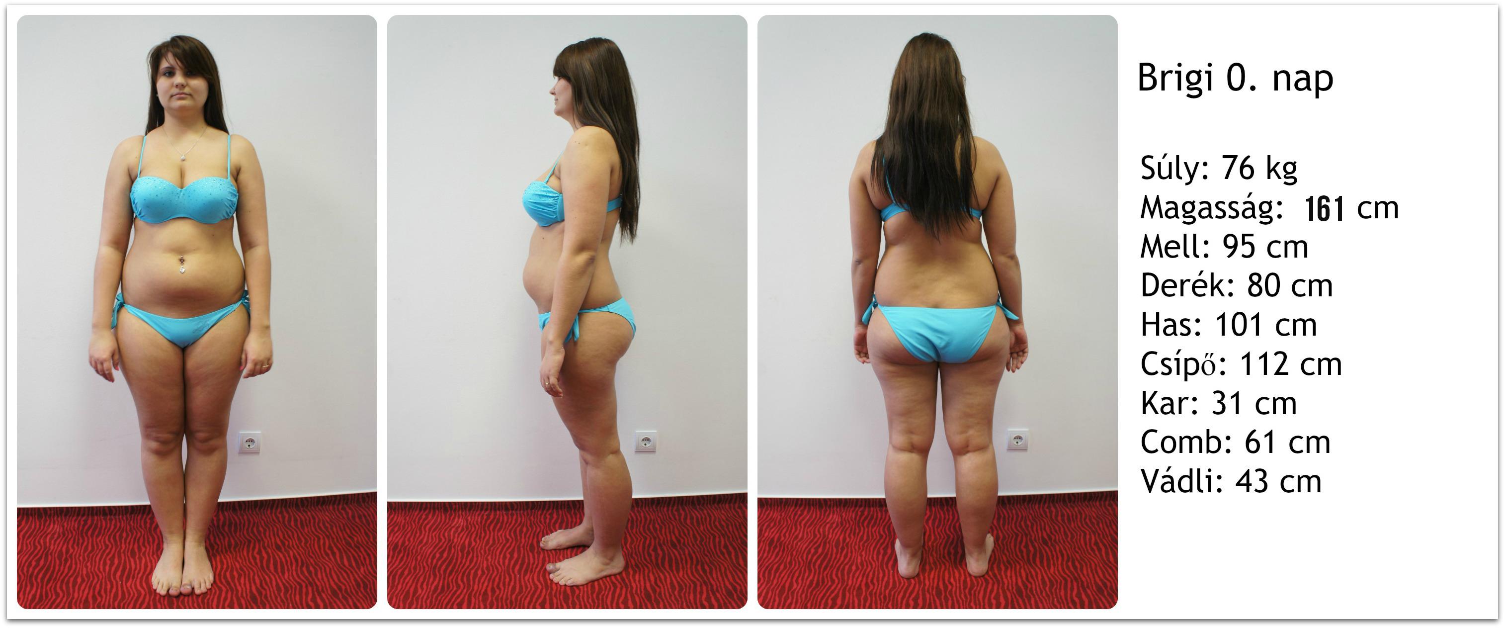 testsúlycsökkenés utáni testváltozások