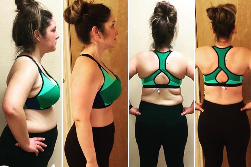 egy hónapos fogyás előtte és utána