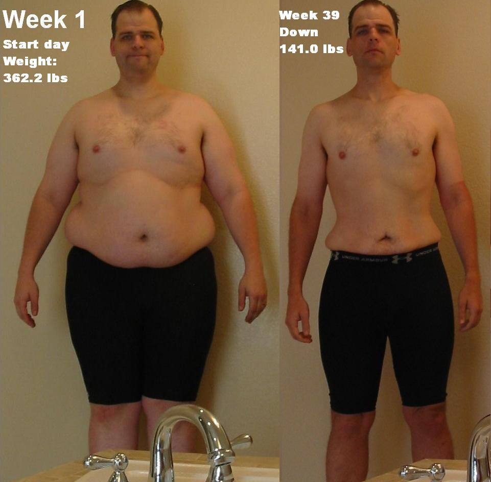 két hetes fogyás előtte és utána)