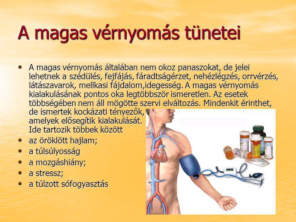 súlycsökkenés és magas vérnyomás tünetei)